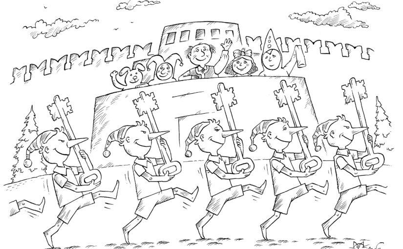Интерактивное занятие «Мастер карикатур»